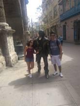 Con el Poeta de La Habana