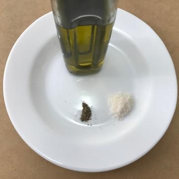 Aceite de Oliva, Pimienta y Sal