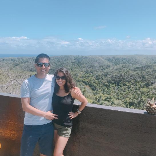 Alex y Yo en el mirador de bacunayagua