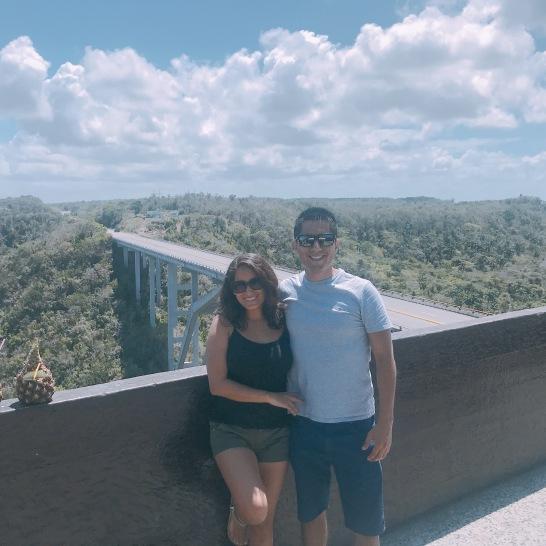 Juntos en el mirador de bacunayagua
