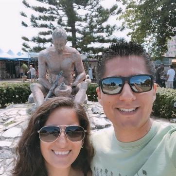 Con Alex en la Feria Artesanal