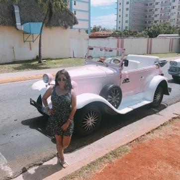 Auto Rosado en Varadero