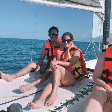 Camino a hacer snorkel