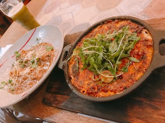 Ravioles y Lasagna