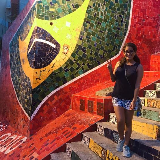 Con la Bandera de Brasil